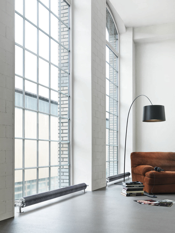 FLOW FORM | radiateur tube ailettes électrique, radiateur électrique, des lignes sobres qui séduiront les aficionados du style indus ou design industriel.
