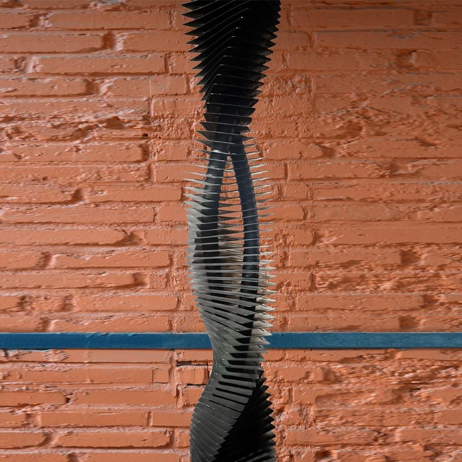 TUBE AILETTE EPINGLE VERTICAL VRILLE : l'élégance d'un radiateur tu ailette au design contemporain associée au confort du chauffage central